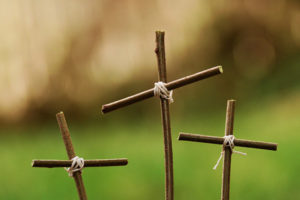 Three Small Crosses